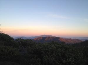sunset on ridge